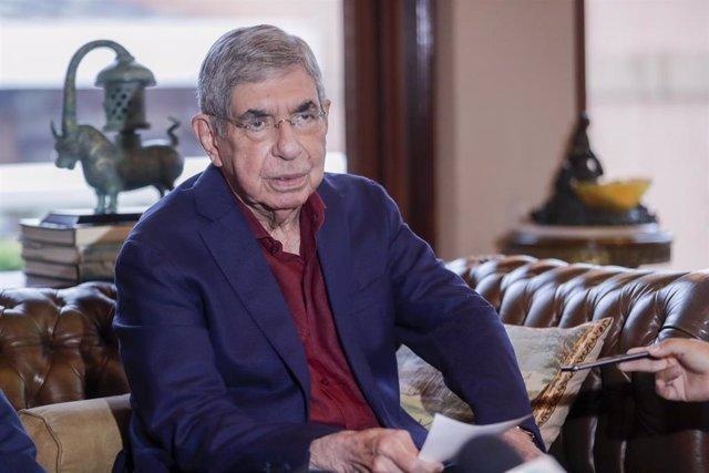 El ex presidente de Costa Rica Óscar Arias