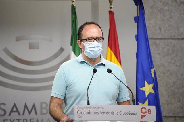 El portavoz de Cs en la Asamblea de Extremadura, Cayetano Polo