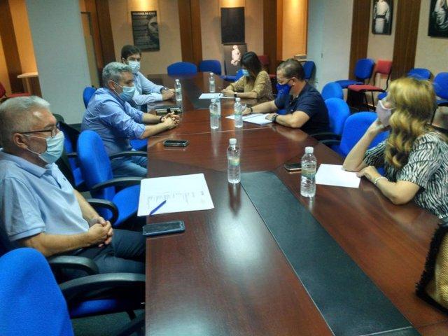 Reunión con el alcalde de Andújar sobre el nuevo curso escolar.