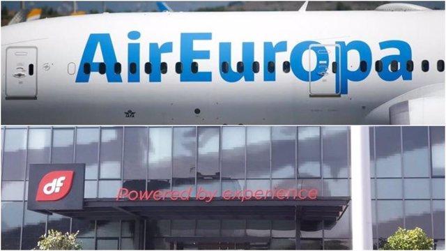 Avión de Air Europa y sede de Duro Felguera