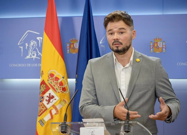 El portaveu d'ERC al Congrés dels Diputats, Gabriel Rufián. Madrid (Espanya), 8 de setembre del 2020.