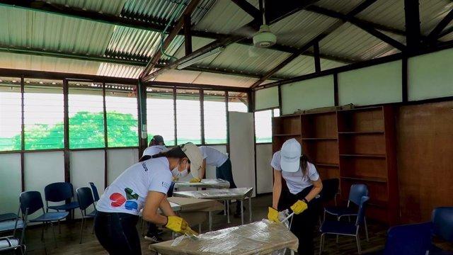 Sacyr colabora con ONG de Latinoamérica para luchar contra la pandemia