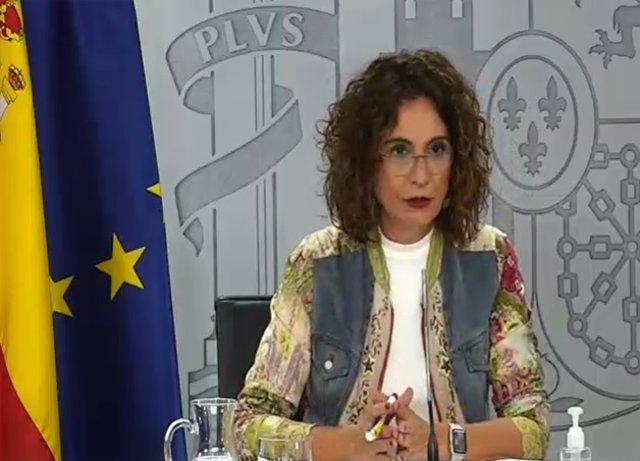 Rueda de prensa de la portavoz del Gobierno, María Jesús Montero, tras el Consejo de Ministros