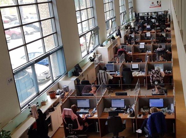Trabajadores del Servicio de Teleasistencia
