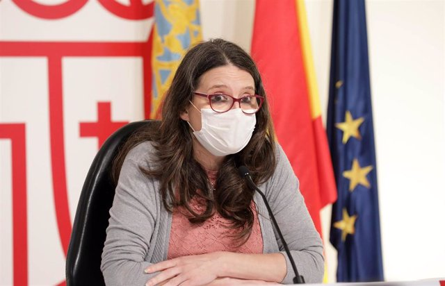 Mónica Oltra con mascarilla en imagen de archivo
