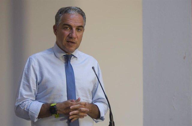 El consejero de la Presidencia, y portavoz del Gobierno de la Junta de Andalucía, Elías Bendodo, en una foto de archivo.