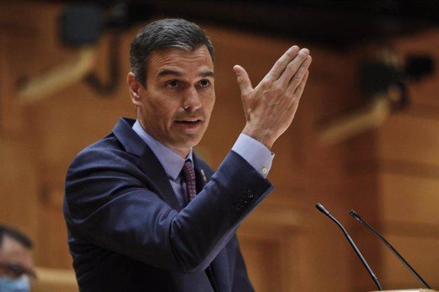 El presidente del Gobierno, Pedro Sánchez, comparece ante el Pleno del Senado, tras el parón estival.