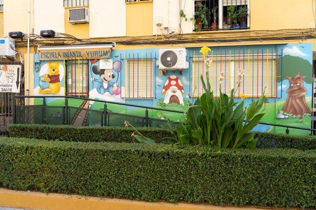 La Escuela Infantil 'Yurumi', en la zona de la Macarena, en Sevilla, cerrada tras confirmar el positivo en Covid-19 de uno de los menores que acuden a ella, tras lo que se procederá a realizar PCR al resto de alumnos. Sevilla a 9 de septiembre 2020