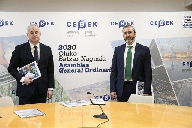 El secretario general de Cebek, Francisco Javier Azpiazu, y el presidente, Iñaki Garcinuño