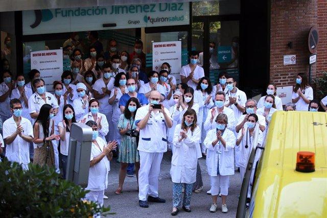 Los sanitarios de la Fundación Jiménez Díaz
