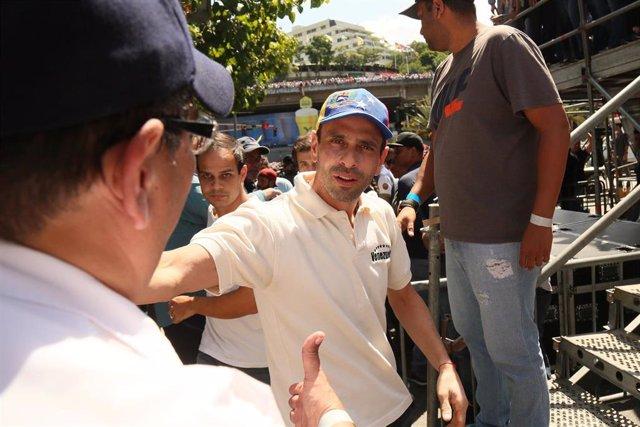 El opositor venezolano Henrique Capriles