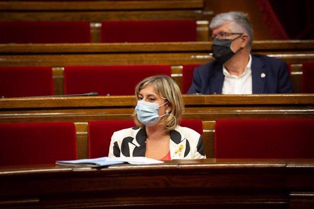 La consellera de Salut, Alba Vergés, en la sessió de control al Parlament