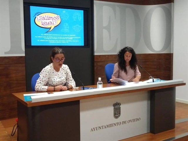 Covadonga Díaz y Aránzazu Fernández.