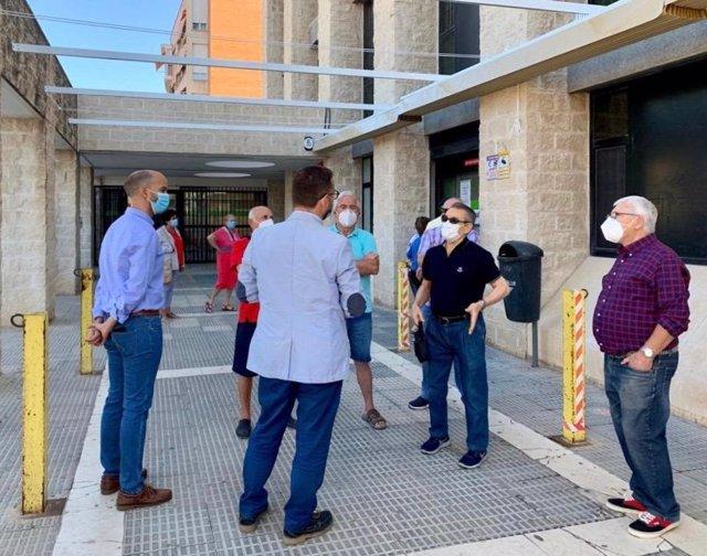 Trasladan el 'Punto Covid' de San Diego, en Lorca, al antiguo aparcamiento de Limusa