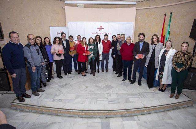 Premiados y jurado en Huelva de la anterior edicición de los Premios al Valor Social de la Fundación Cepsa.