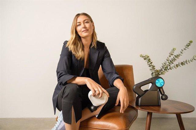 La extenista, modelo y empresaria rusa Maria Sharapova apuesta por la terapia percusiva de Therabody