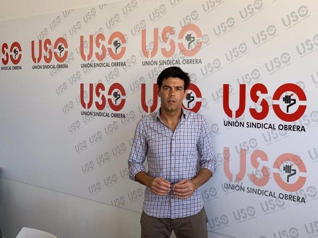 El secretario general de USO, Joaquín Pérez.
