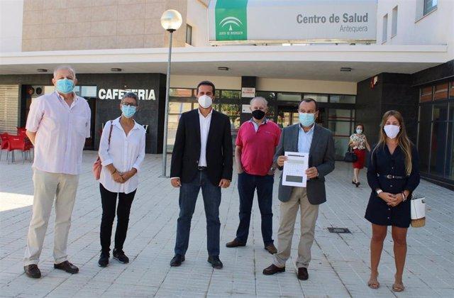 El secretario general del PSOE de Málaga, José Luis Ruiz Espejo, en un acto en Antequera (Málaga)