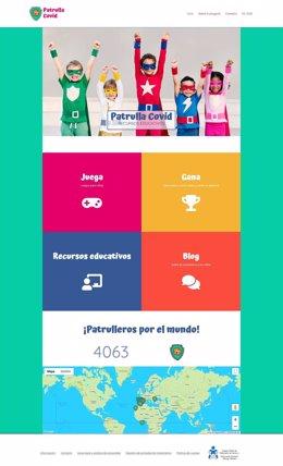 Imagen de la web 'Patrulla Covid', del Colegio de Enfermería de Navarra