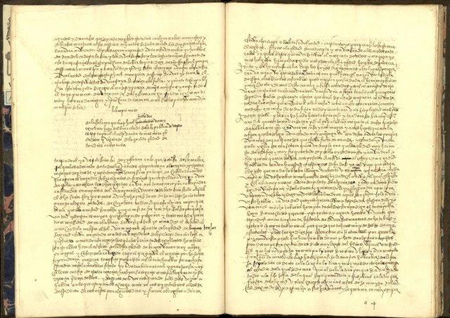 Imatge de la 'Utopia' de Tomás Moro, traduïda a la dècada del 1530 per Vasco de Quiroga i conservada en la Biblioteca del Palacio Real de Madrid, gestionada per Patrimoni Nacional.