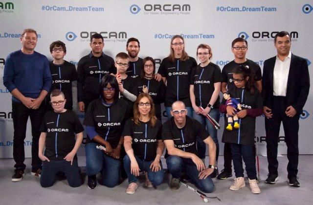 Fútbol.- Messi capitanea el 'Dream Team' de OrCam en ayuda de discapacitados vis