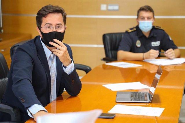 Gongorá (PP) preside la reunión de coordinación Covid-19 en El Ejido (Almería)