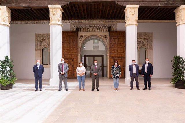 Reunión del Gobierno de C-LM con la alcaldesa de Talavera de la Reina.