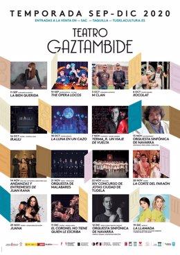 Cartel con la nueva temporada del Teatro Gaztambide