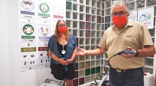 El alcalde de Bormujos presenta el plan de desinfección de los centros educativos