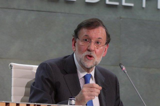 """El expresidente del Gobierno Mariano Rajoy durante la presentación de su libro, """"Una España Mejor"""", en la Fundación Rafael del Pino, en Madrid a 4 de diciembre de 2019."""