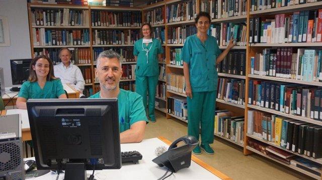 Profesionales de la UCI del hospital de Toledo