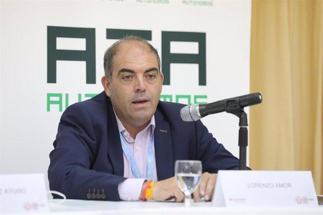 El presidente de ATA, Lorenzo Amor, durante la quinta jornada de la XXXIII Edición de los Cursos de Verano en San Lorenzo de El Escorial, Madrid (España), a 24 de julio de 2020.