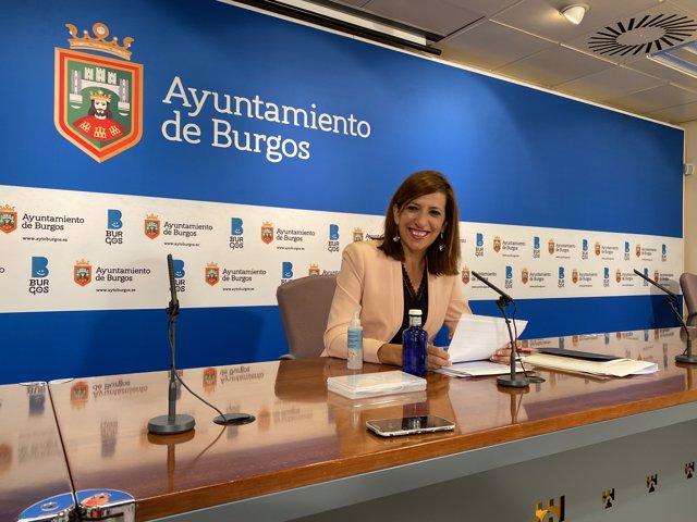 Nuria Barrio, portavoz del equipo de Gobierno del Ayuntamiento de Burgos