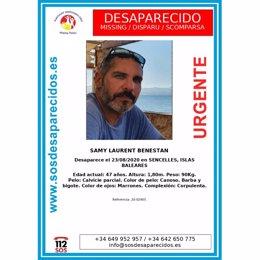 Alerta de búsqueda de Samy Laurent Benestan.