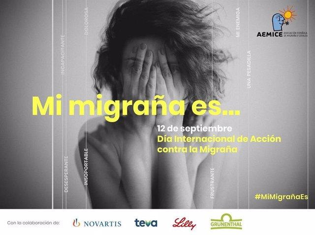 AEMICE lanza la campaña '#MiMigrañaEs' para dar voz a las más de 5 millones de personas que sufren migraña
