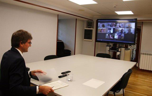 Gorka Urtaran preside la reunión de la Comisión Ejecutiva de Eudel.