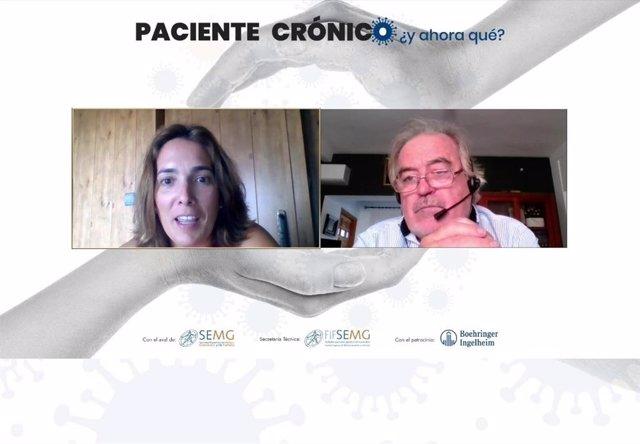 Dres. Teresa Benedito y Carlos Miranda en webinar 9 sept 20