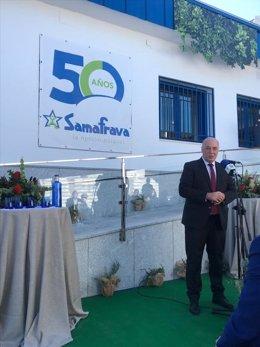 El presidente de la Diputación de Córdoba, Antonio Ruiz, en la celebración del 50º aniversario de Samafrava