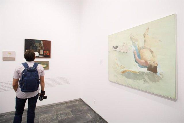 Imagen de la exposición 'De la belleza y lo sagrado', la primera retrospectiva de la pintora navarra Isabel Baquedano