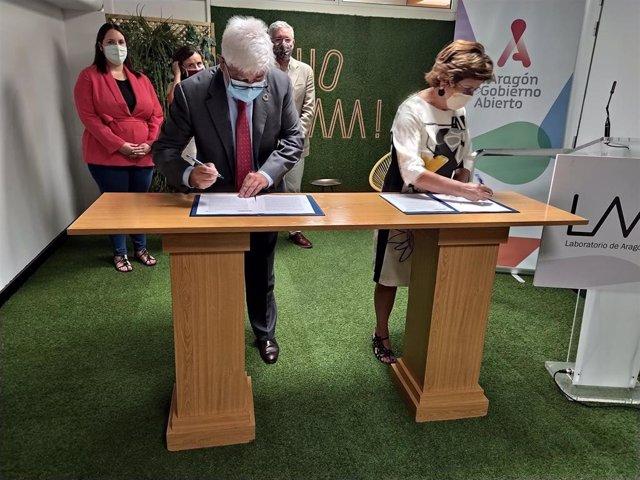El Gobierno de Aragón firma con UNICEF un convenio de colaboración para liberar a 68 niños soldados en Sudán del Sur.