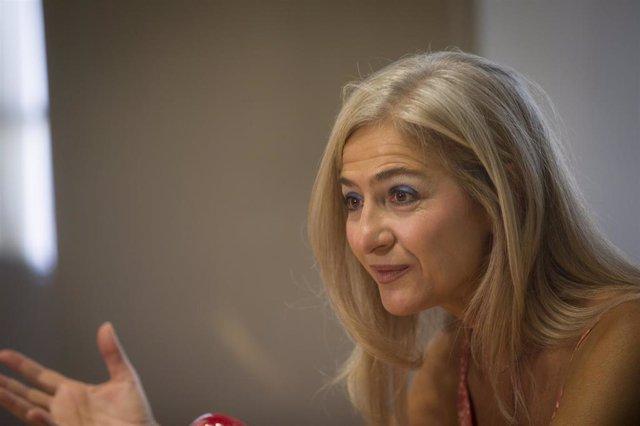 La consejera de Cultura y Patrimonio Histórico de la Junta de Andalucía, Patricia del Pozo, durante la entrevista concedida a Europa Press. En Sevilla (Andalucía, España), a 29 de agosto de 2020.