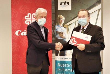 Firma de acuerdo entre UNIR y CÁRITAS para formar a los colectivos más vulnerables para facilitar acceso mundo laboral