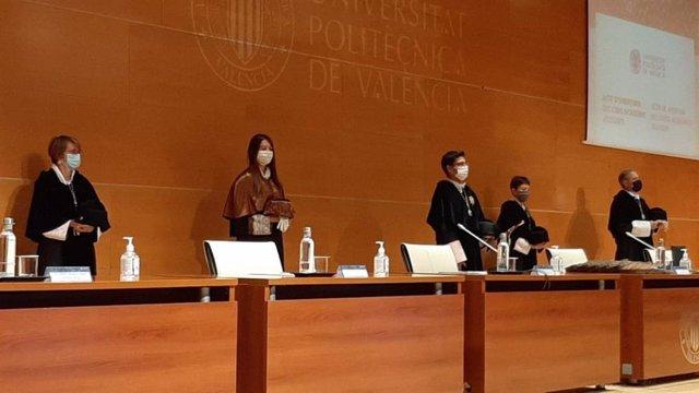 La consellera de Innovación, Universidades, Ciencia y Sociedad Digital, Carolina Pascual, en la apertura del curso en la UPV