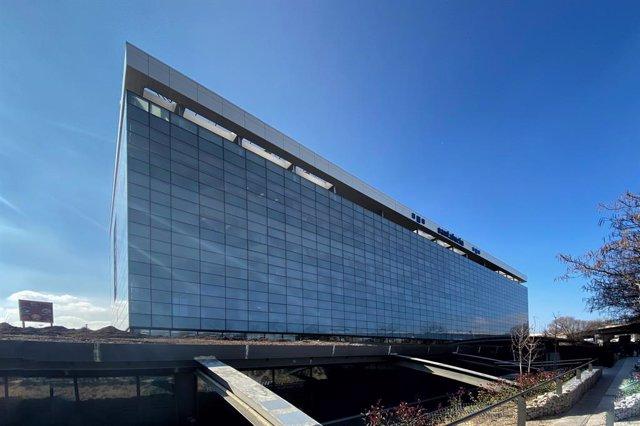 Sede de la empresa de Seguros de Salud, Santalucía, en la Calle de la Ribera del Loira, Madrid (España), a 14 de febrero de 2020.