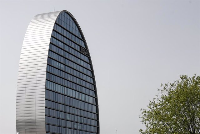 La Ciudad BBVA, compuesta por siete edificios que alberga la sede de la entidad bancaria española.