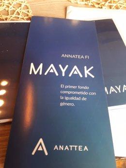 Presentación del Fondo Mayak, comprometido con la igualdad de género.