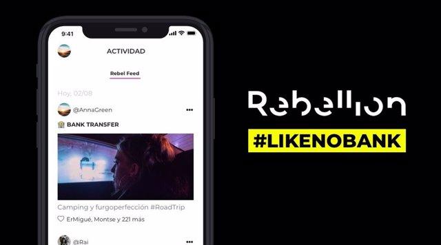 Rebellion apuesta por una experiencia social de pago con movimientos visibles entre usuarios