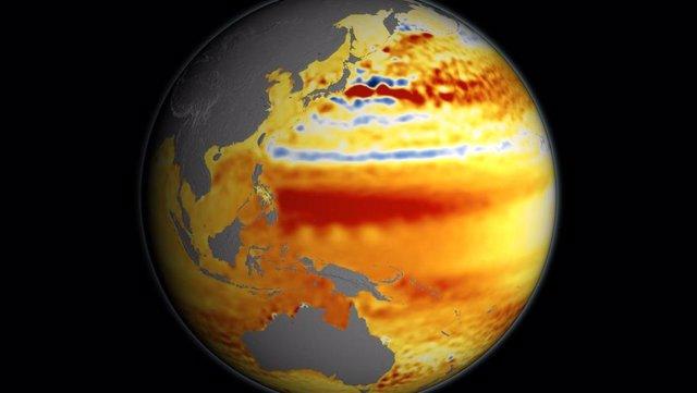 Anomalía de temperatura en el Océano Pacífico