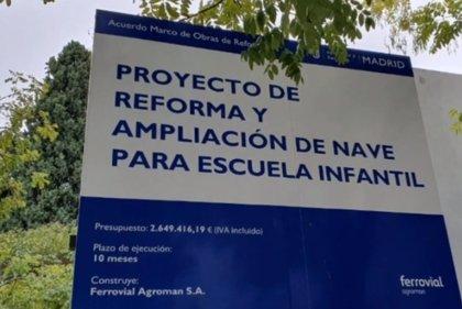 Más Madrid urge a abrir 3ª escuela infantil de Retiro, terminada en julio, en distrito con 300 niños en lista de espera