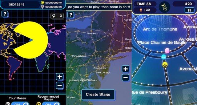 Llega una versión del 'comecocos' dentro de Google Maps: Pac-Man Geo